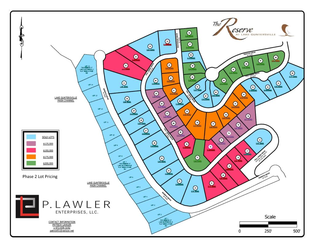 phase 2 lots for sale 11142018
