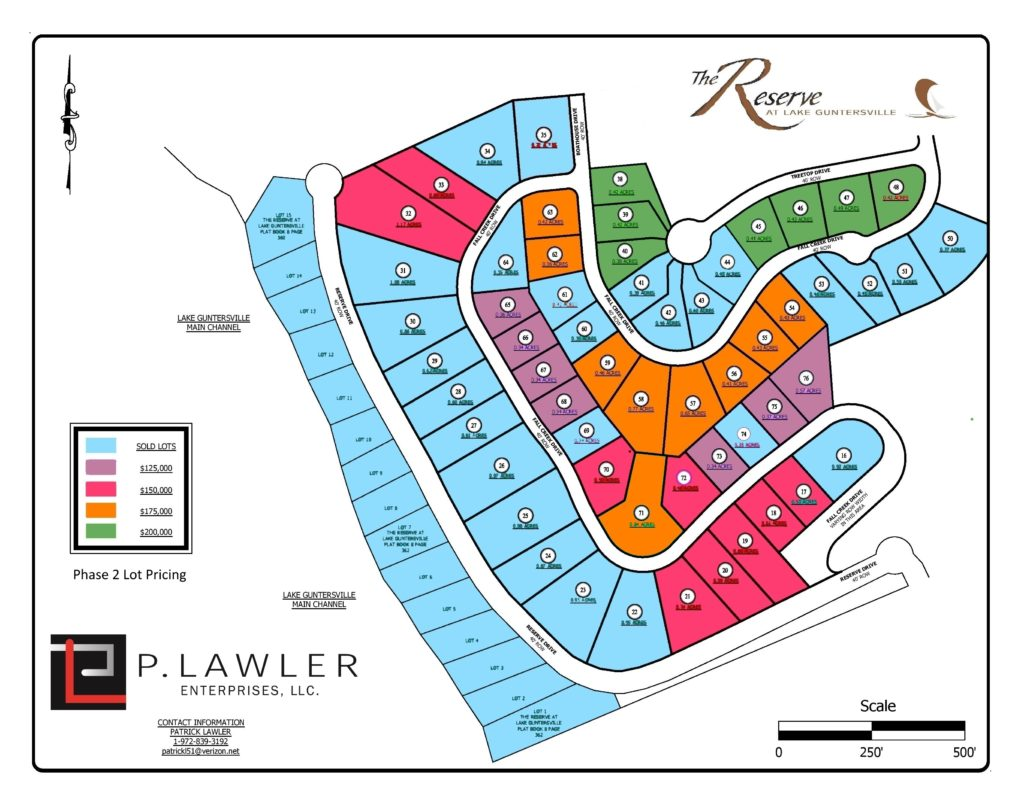 phase 2 lots for sale 09292019