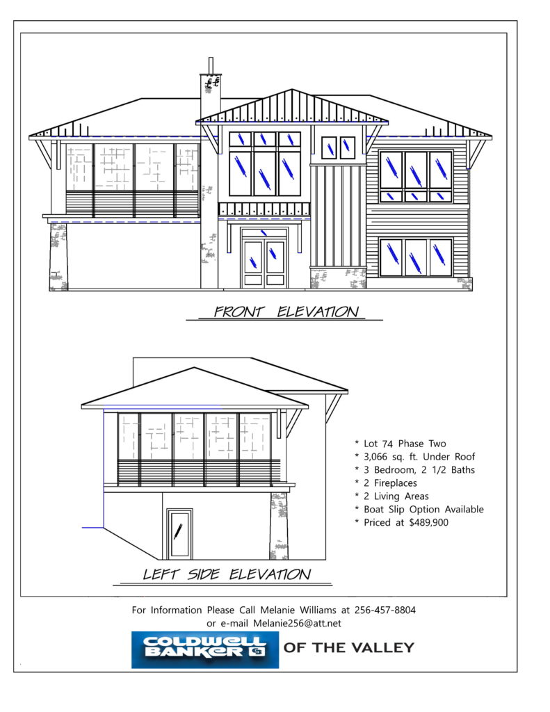 THE RESERVE Lot 74 Spec elevation