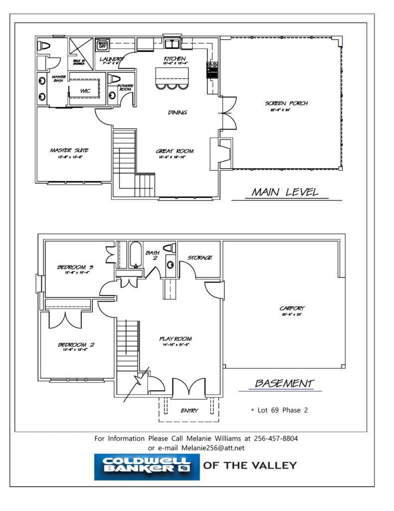 THE RESERVE lot 69 floor plan