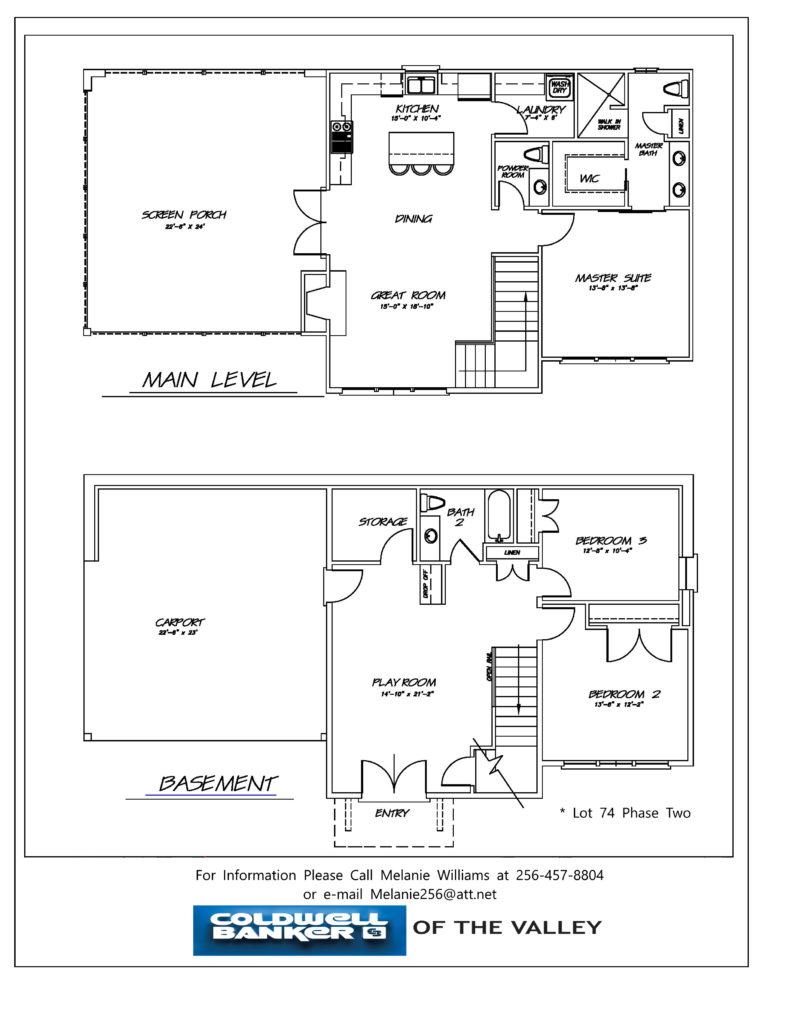 THE RESERVE lot 74 floor plan