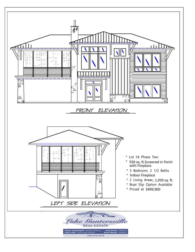 THE RESERVE Lot 74 Spec elevation new vander logo 07272020