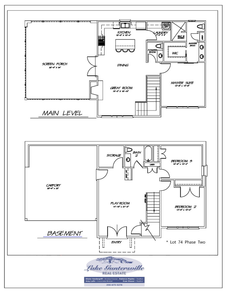 THE RESERVE lot 74 floor plan 01282021