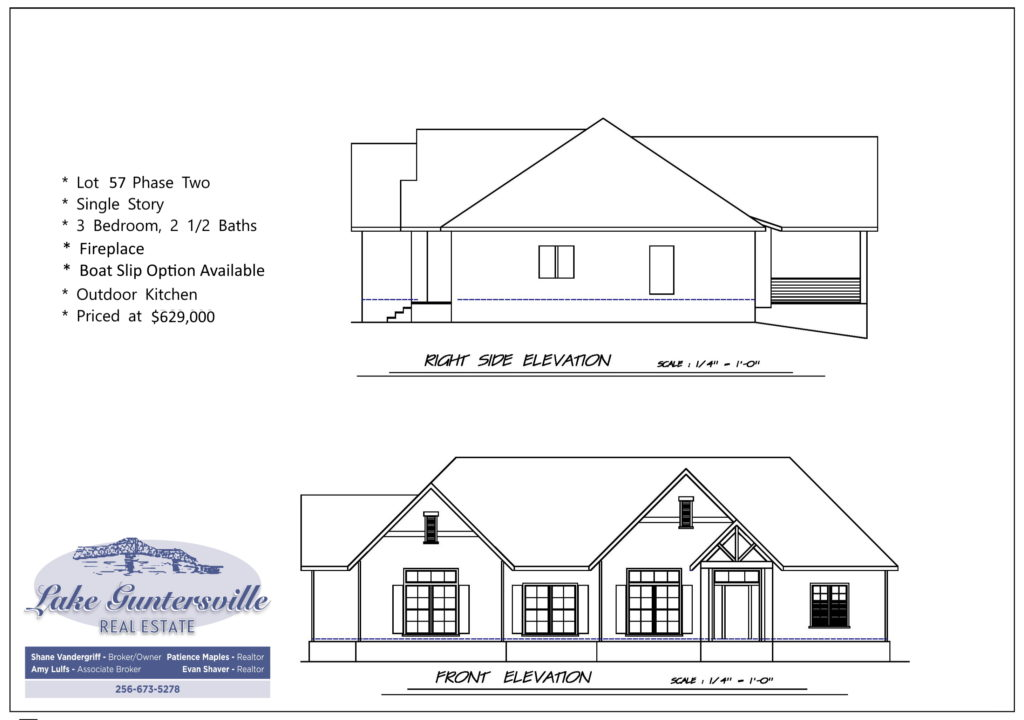 the reserve lot 57 front elevation 01282021
